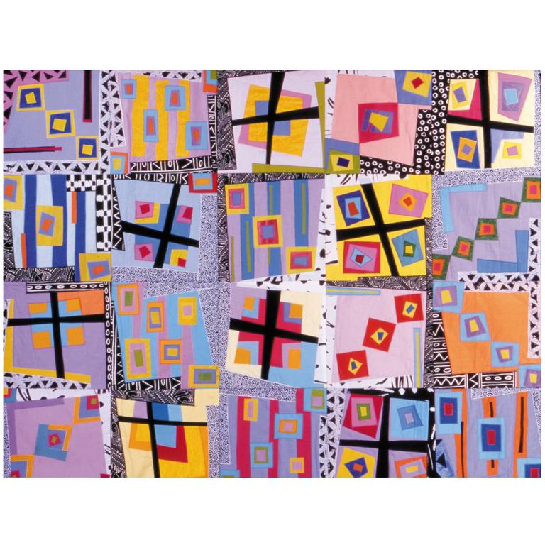 Ice Cold in Alice, Contemporary Quilt Wall Hanging For Sale