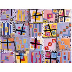 Ice Cold in Alice, Contemporary Quilt Wall Hanging