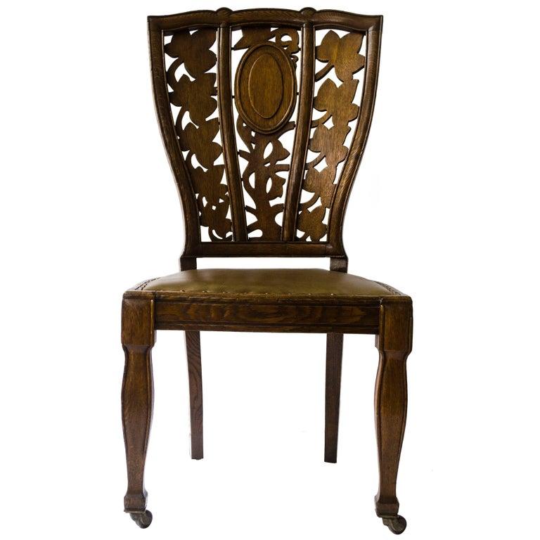 Arthur Heygate Mackmurdo for the Century Guild. An Important Art Nouveau Chair For Sale