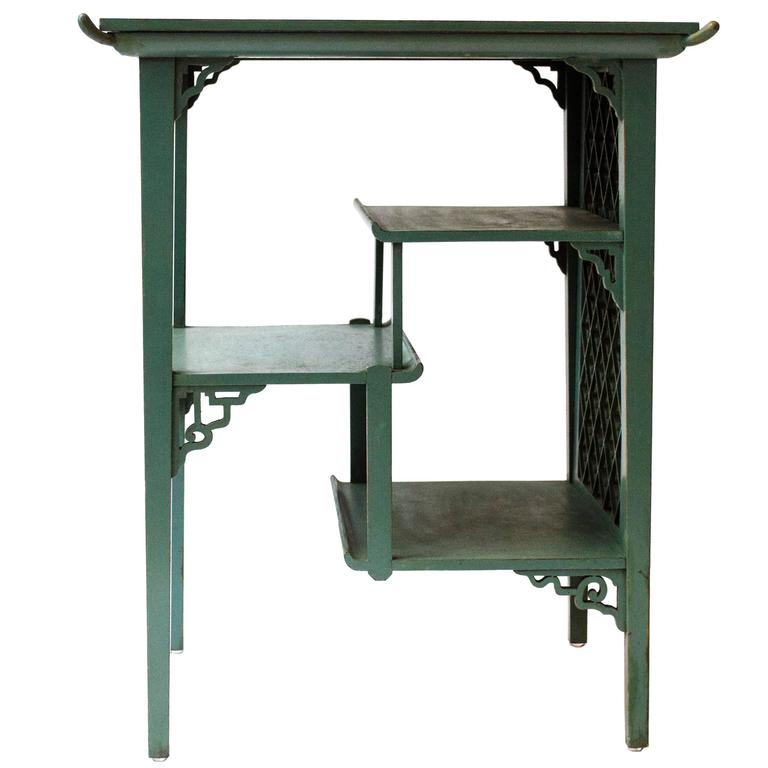 George Watson Edinburgh An Anglo Japanese Side Table With Original Green  Paint 1