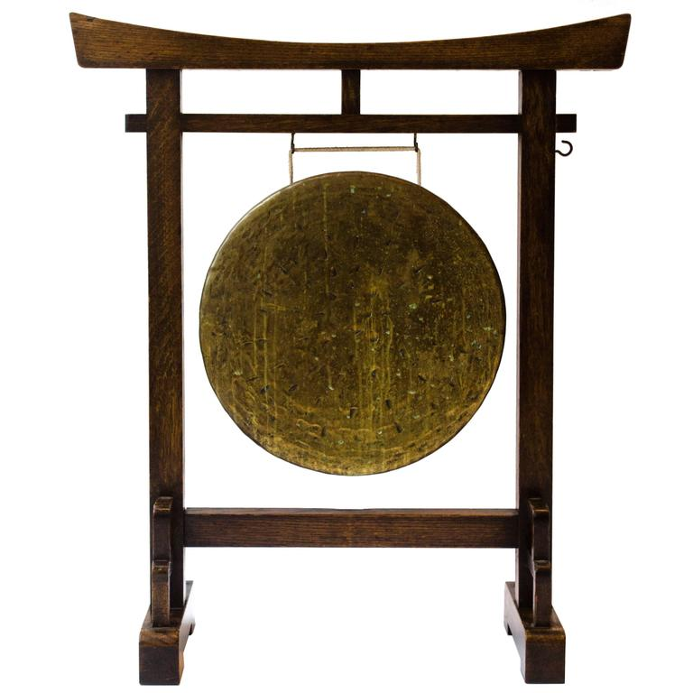 Gong Stand Designs : Anglo japanese gong designed by e w godwin for sale at