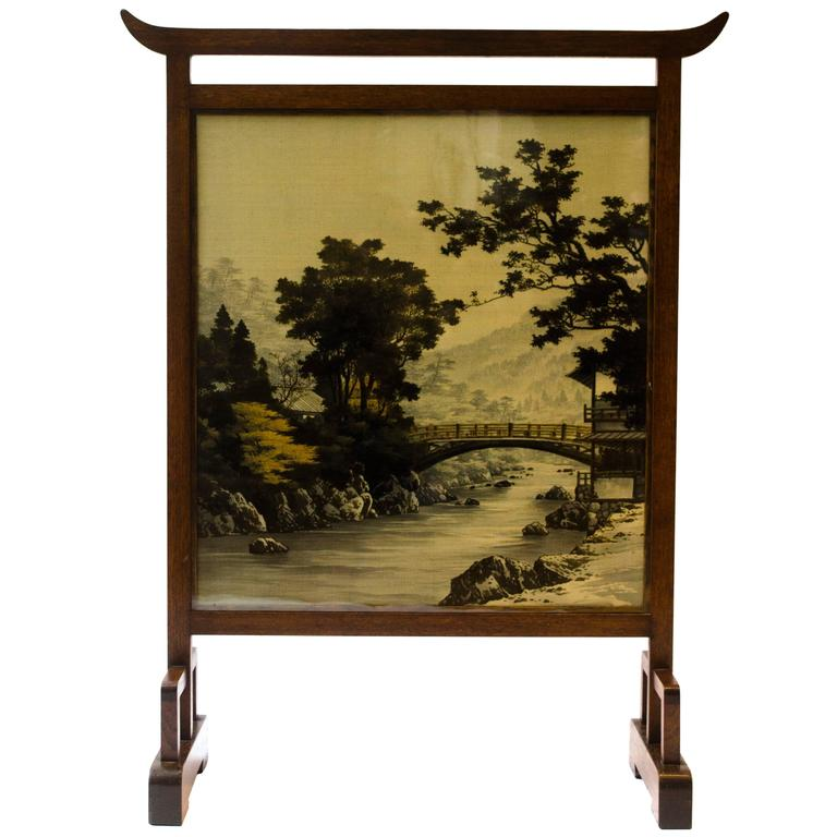 Anglo Japanese Fire Screen Attributed to E W Godwin