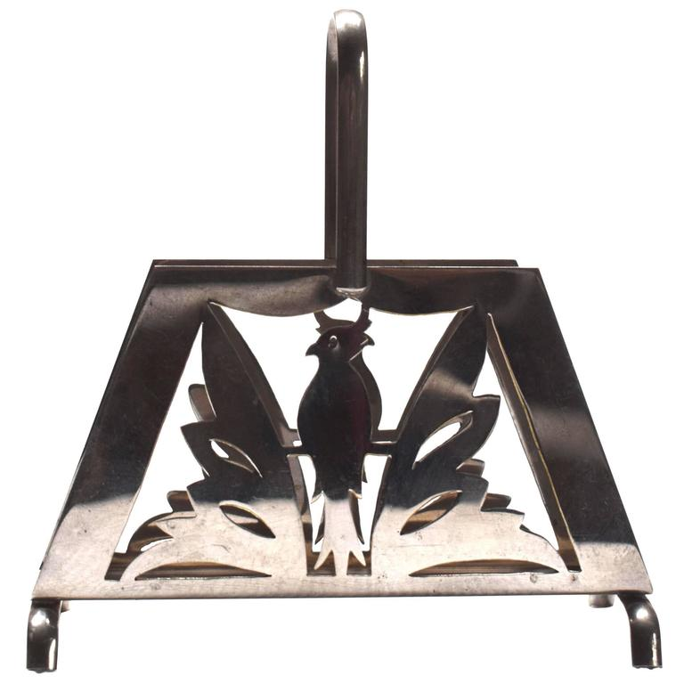 Austrian Art Deco Napkin Holder: Erich Kolbenheyer