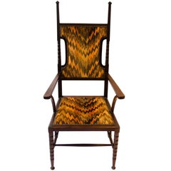 Arts and Crafts Mahogany Armchair Attributed to Liberty and Co.