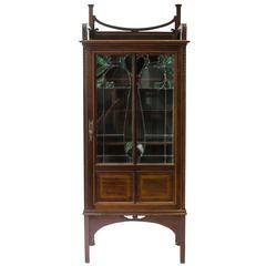 A Petite Arts & Crafts Mahogany Display Cabinet in the Anglo-Japanese Style.
