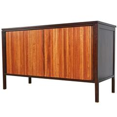 Edward Wormley for Dunbar Tambour Credenza with Pop-Up Table, circa 1960
