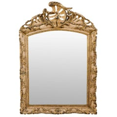 Italian Early 19th C. Rococo Style Mirror with Beautiful Pierce-Carved Crest