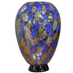Unique Handblown Footed Vase by Vittorio Ferro