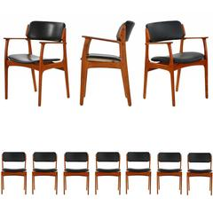 Set of Ten Danish Mid-Century Dining Chairs, Model 49 by Erik Buch for OD Mobler