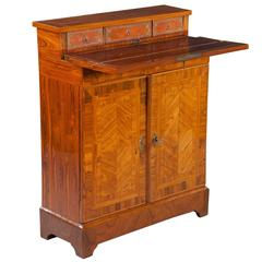 Parquetry Kingwood Secretaire Cabinet Cupboard - shallow narrow depth