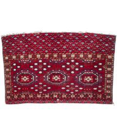Antique Salor Turkeman Wool and Silk Rug