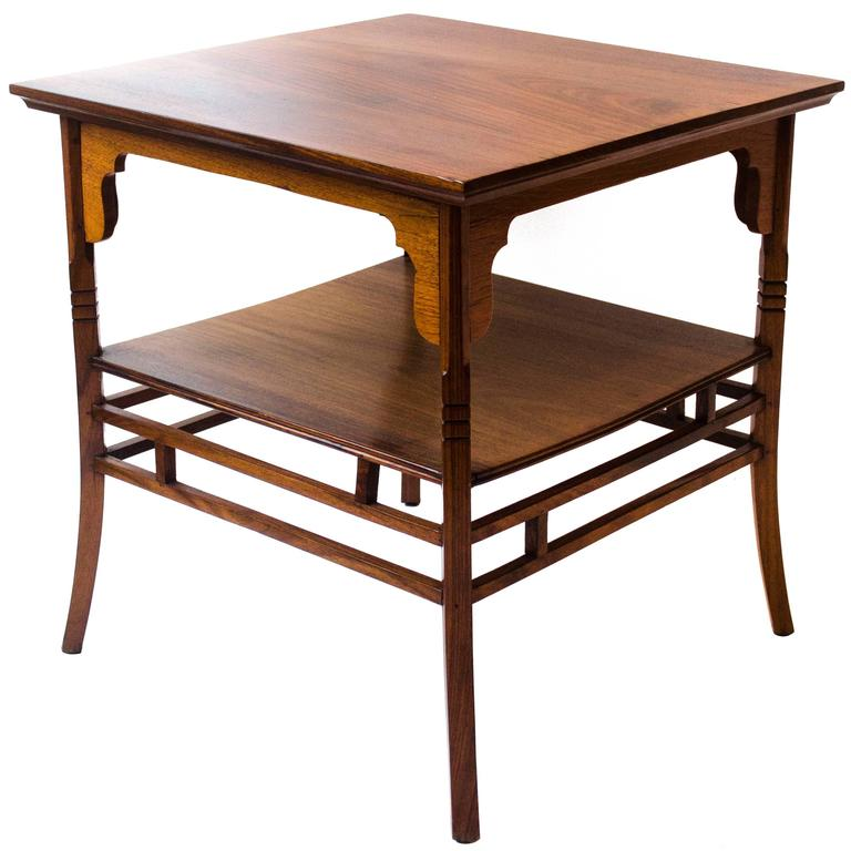 Anglo Japanese Rosewood Side Table By E W Godwin 1