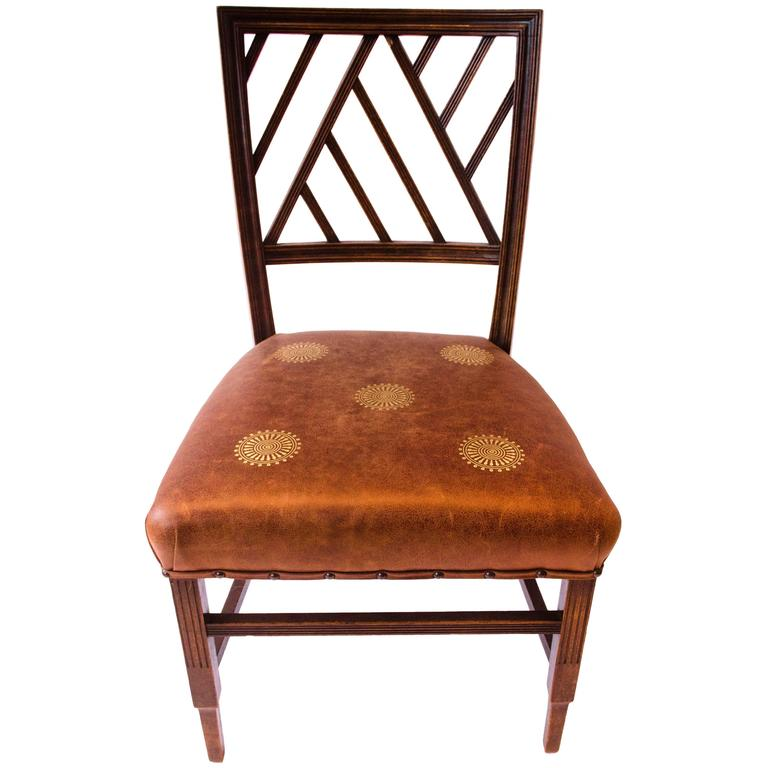 E W Godwin. .Attributed An Anglo-Japanese Walnut Side Chair. For Sale