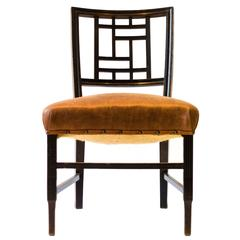 Anglo-Japanese Ebonized Side Chair, Attributed to Edward William Godwin