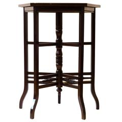 E W Godwin. Anglo-Japanese five Leg Walnut Side Table With Radiating Stretchers