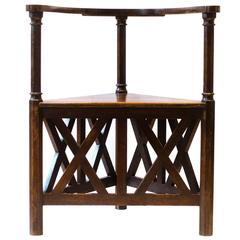 Exceptional Arts and Crafts Oak Corner Armchair by J Hoffmann