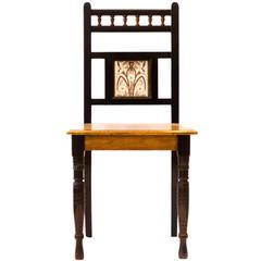 Arts and Crafts Ebonized Hall Chair, B Talbert