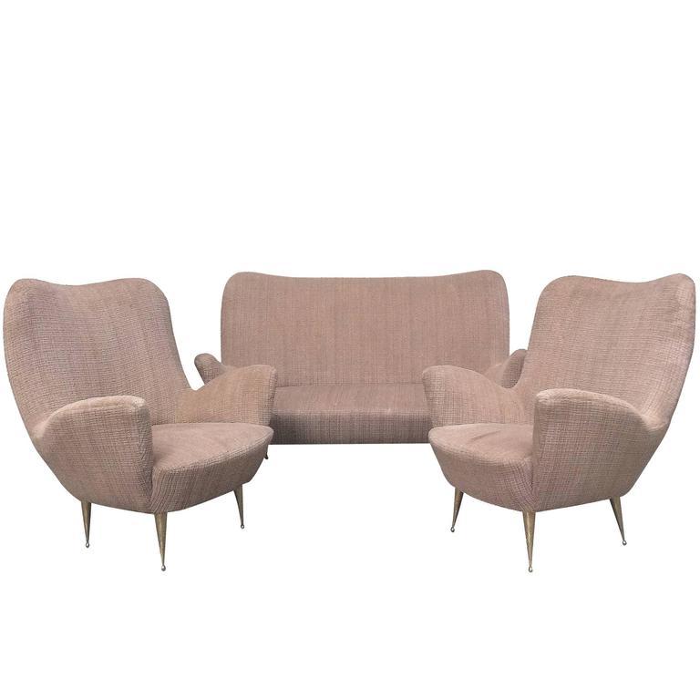 1950s Italian Lounge Set For Sale