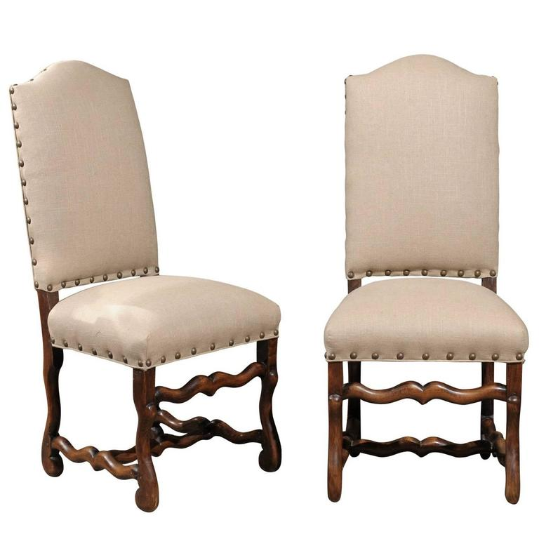 Set Of Eight French Louis XIV Style Upholstered Back Dining Chairs At 1stdibs
