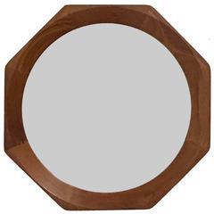 BVK Denmark Mid-Century Octagonal Walnut Mirror