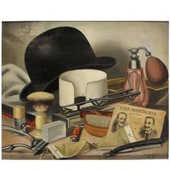Still Life Painting of Men's Grooming Items by Charles Cerny