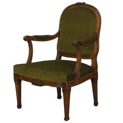 19th Century Louis XVI Style Fauteuil