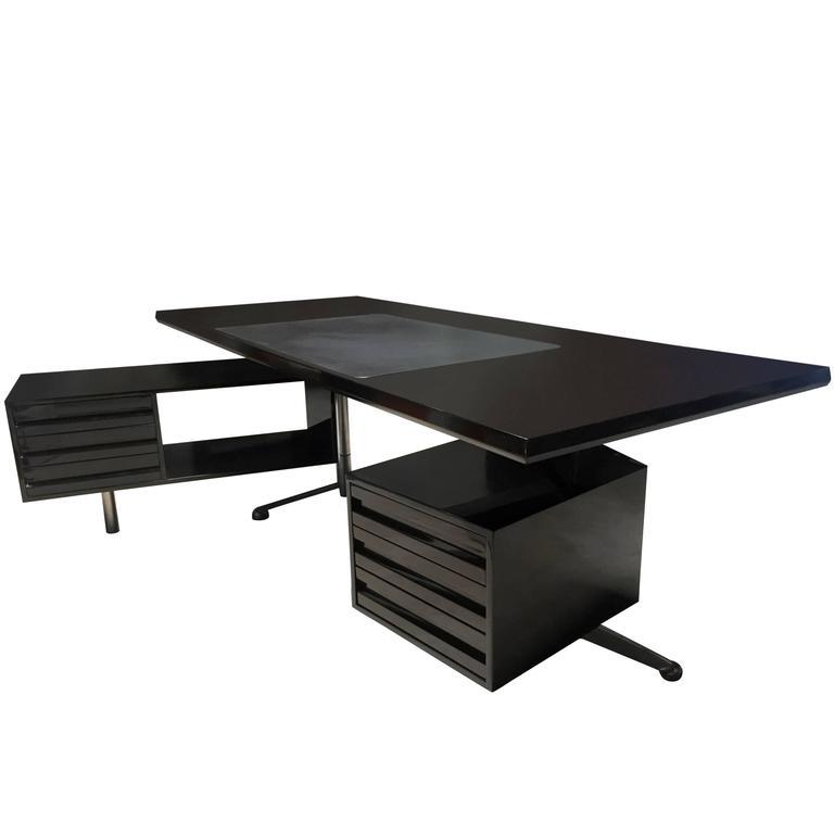 Rosewood Executive Desk by Osvaldo Borsani for Tecno Milano