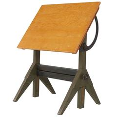 Industrial Maple Lietz Co. San Francisco Drafting Table, circa 1930