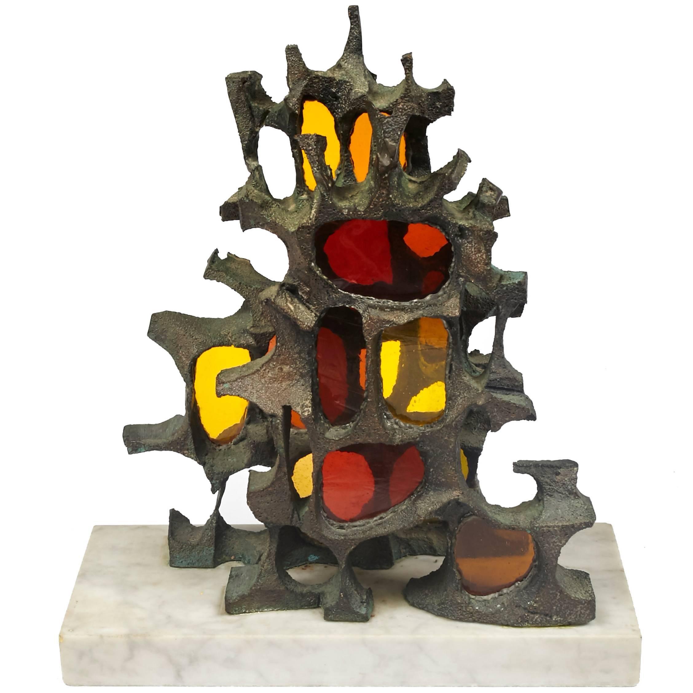 Mid-Century Modern Brutalist Bronze Sculpture