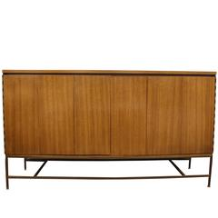 Paul McCobb for Calvin Irwin Collection Mahogany and Brass Credenza