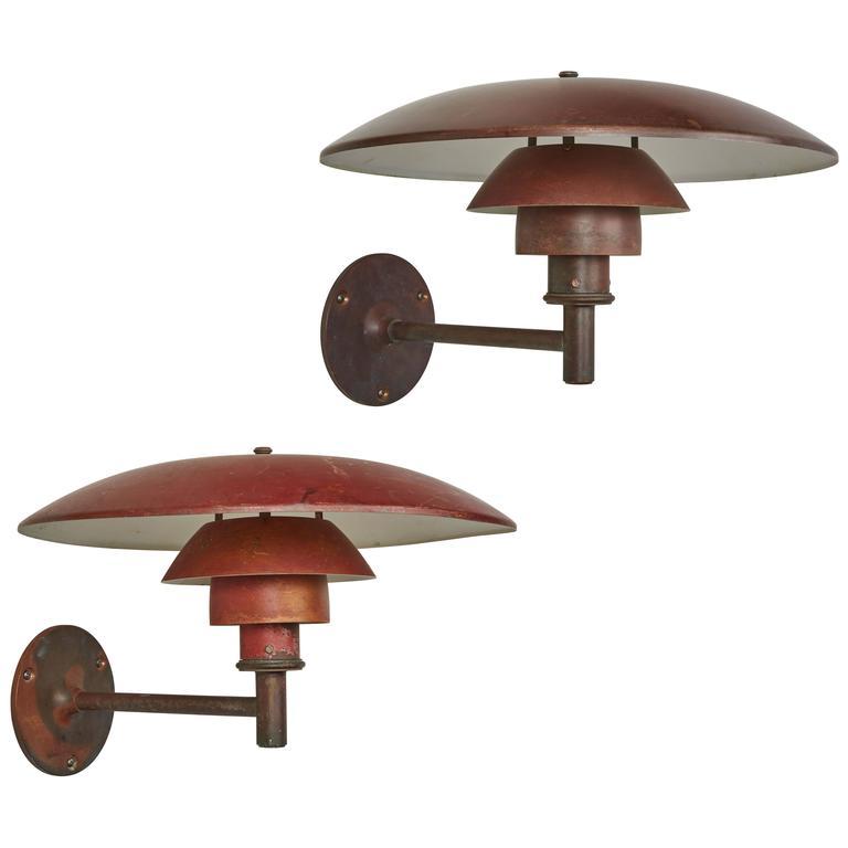 Exterior Copper Sconces by Poul Henningsen for Louis Poulsen For Sale at 1stdibs