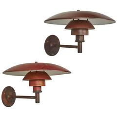 Exterior Copper Sconces by Poul Henningsen for Louis Poulsen