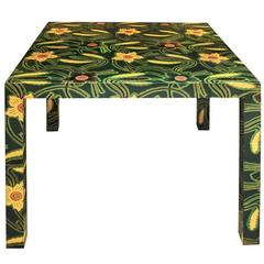 Karl Springer Batik Game Table, 1970s