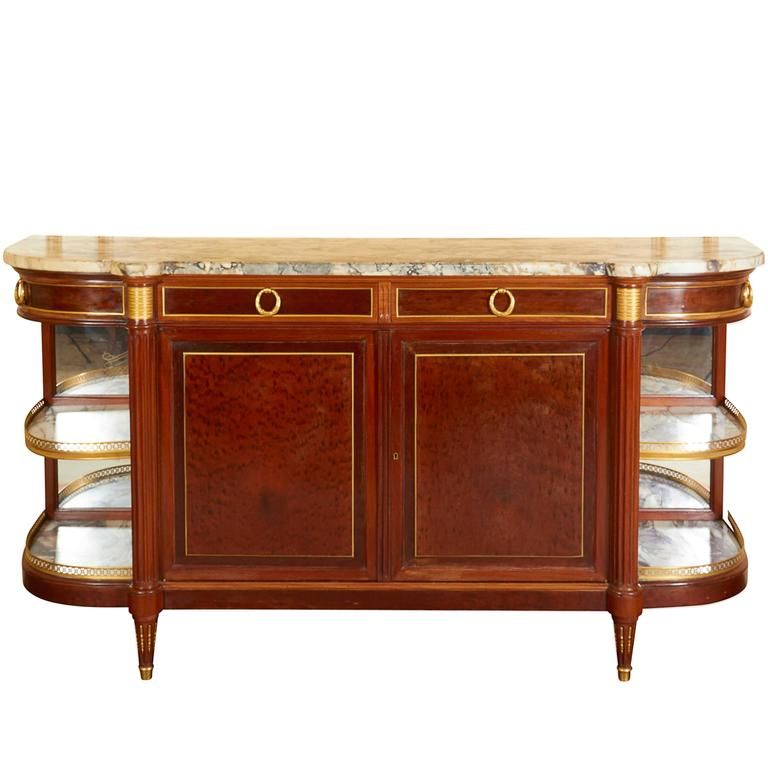 Louis XVI Style Mahogany, Amaranth and Gilt Bronze Console ...