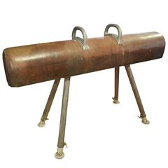 Leather and Iron Pommel Horse