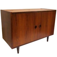 1950s Rosewood Small Double-Door/Lift Top Cabinet by Poul Hundevad