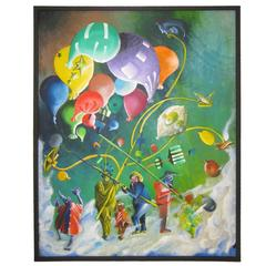 Colorful Whimsical Figurative Painting