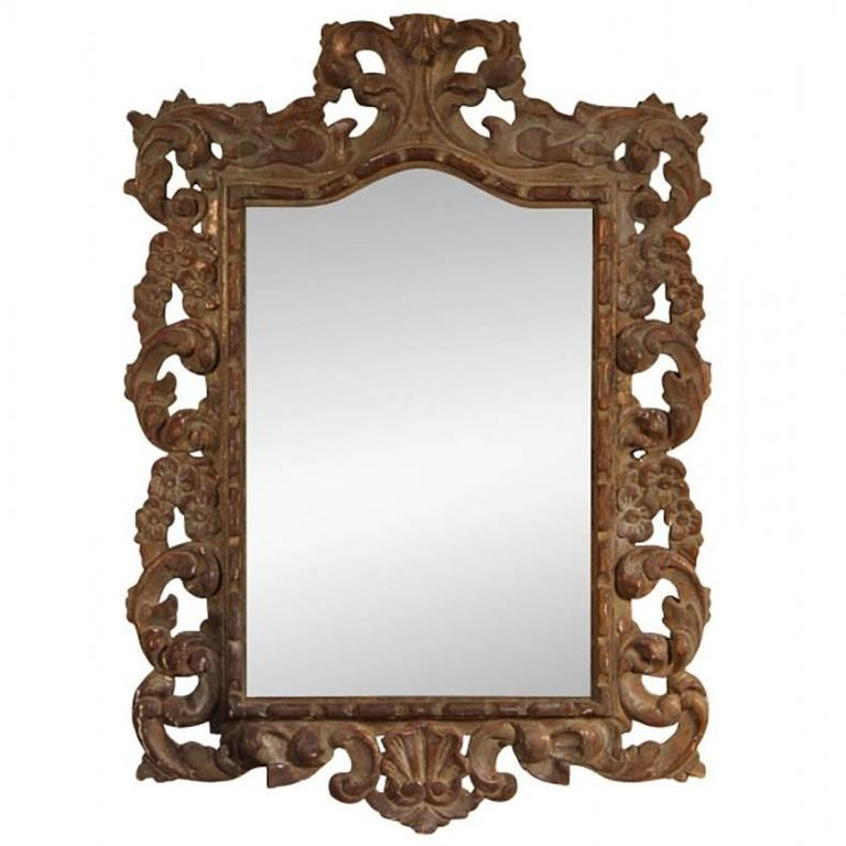 carved wood baroque style wall mirror at 1stdibs