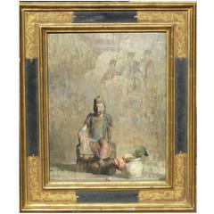 "Hovsep Pushman Oil on Board, ""God of Fading Flowers"""