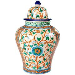 Colorful Mexican Ceramic Vase, Talavera Tibor