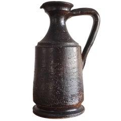 Minimalist Signed Pitcher Shaped Vase by Jean Marais, France, 1960s