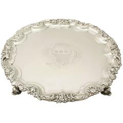Antique George II Sterling Silver Salver