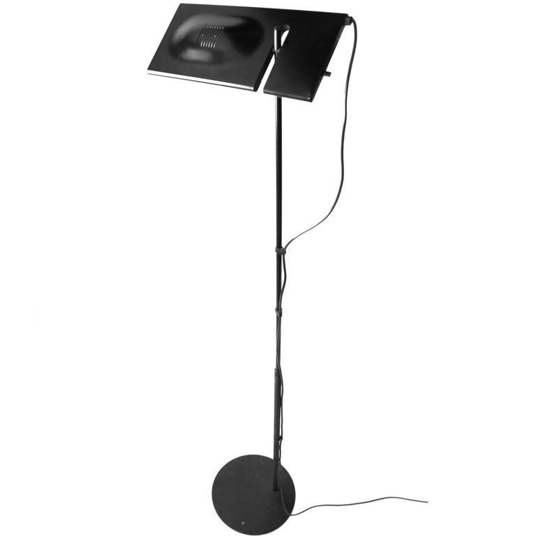 Duna Terra Telescopic Tall Halogen Floor Lamp First Edition Italy 1980 For