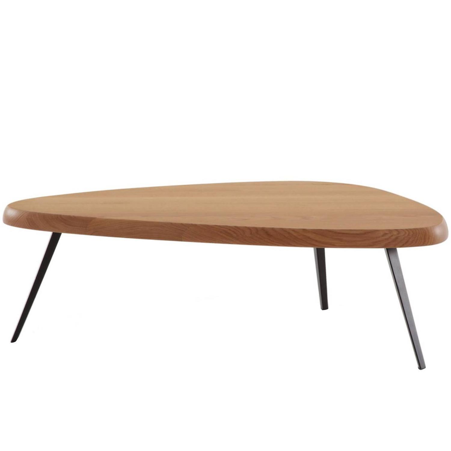 Low coffee table by charlotte perriand at 1stdibs Low wooden coffee table