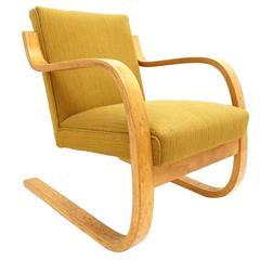 Early Alvar Aalto Model 402 Chair for Artek Finland with Original Upholstery