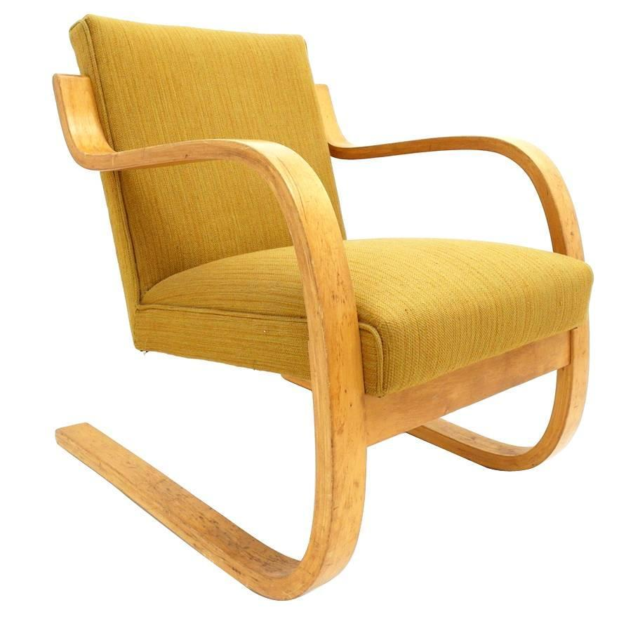 Early alvar aalto model 402 chair for artek finland with for Alvar aalto chaise