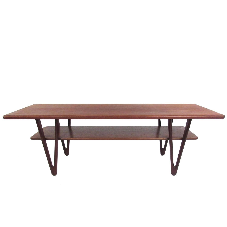 Danish Modern Triangular Leg Teak Coffee Table By Kurt Ostervig For Sale At 1stdibs