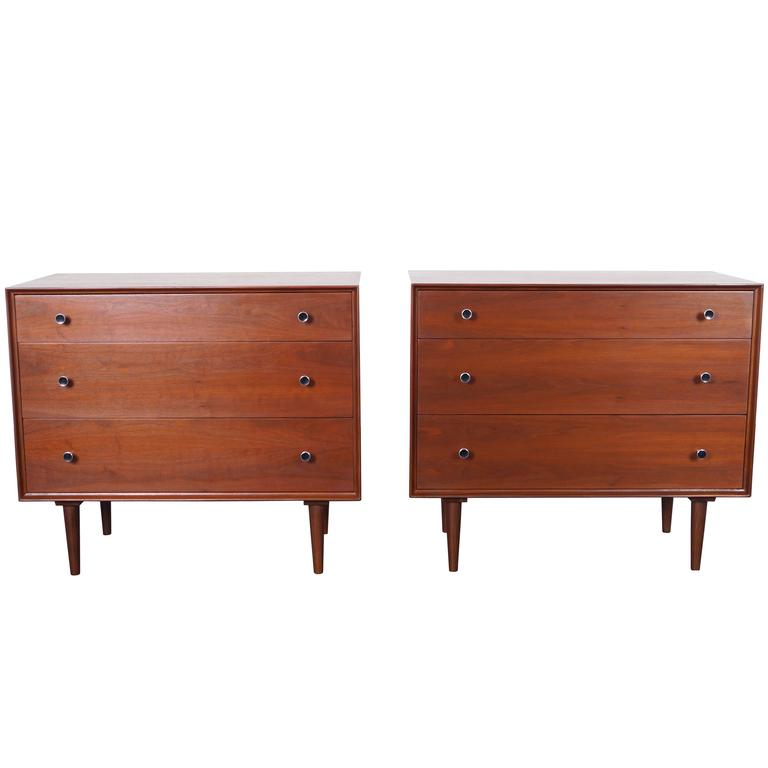Vintage Walnut Chest of Drawers by Robert Baron For Sale
