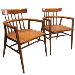 Paul Mccobb Maple Armchairs For Winchendon