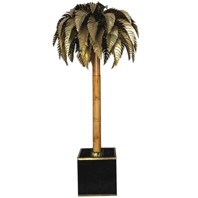 this bamboo palm tree floor lamp maison jansen 1970 is no longer. Black Bedroom Furniture Sets. Home Design Ideas